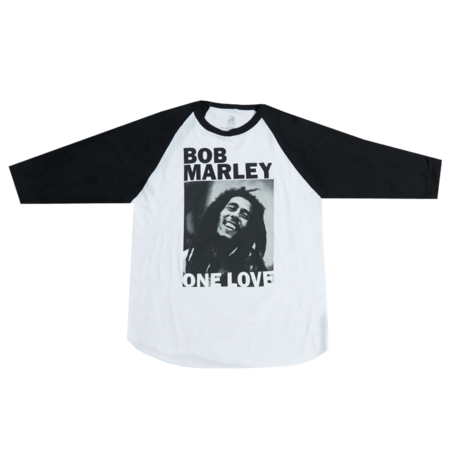 Bob Marley: One Love B&W Ladies Raglan