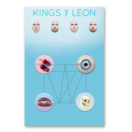 Kings Of Leon: Walls Button Badge Set