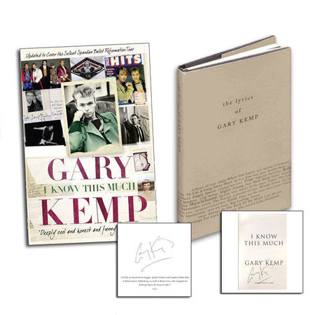 Gary Kemp: I Know This Much and The Lyrics Of Signed Book Bundle