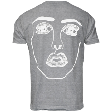 Disclosure: The Face: Grey + White Tee