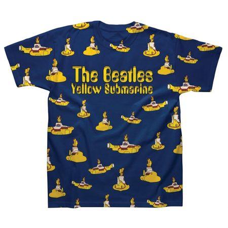 The Beatles: Multi Yellow Submarines Sublimation T‑Shirt
