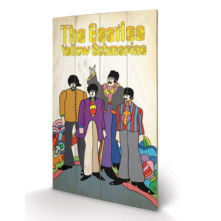 The Beatles: The Beatles - Yellow Submarine Band Wooden Print Small