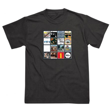The Beatles: Album Covers T-Shirt Black