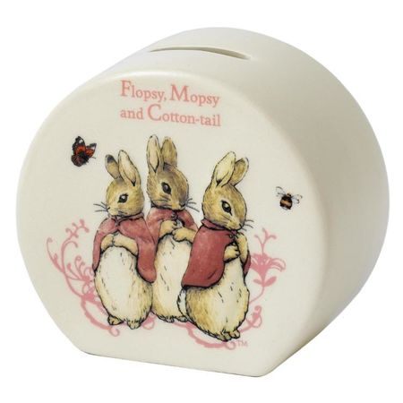 Flopsy, Mopsy and Cotton-tail: Flopsy, Mopsy and Cotton Tail - 10cm Money Bank