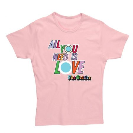 The Beatles: All You Need Is Love Womens Fitted T-Shirt Baby Pink