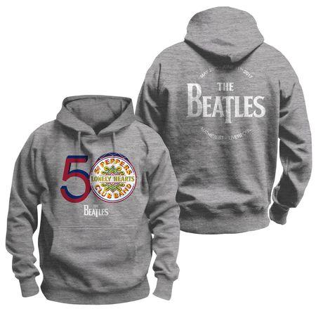 The Beatles: Men's Grey 50th Anniversary Sgt. Pepper Hoodie