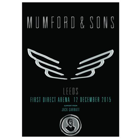 Mumford & Sons : Leeds, UK, 2015 Show Screen Print