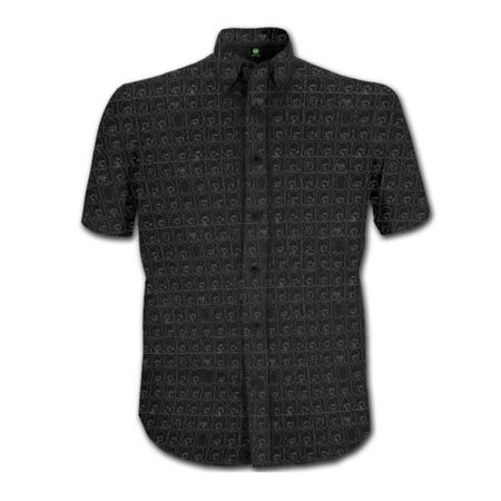 The Beatles: Men's Shirt: Hard Days Night Pattern (Black)