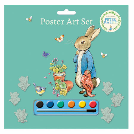 Peter Rabbit: Peter Rabbit Blue Poster Art Set with Paints