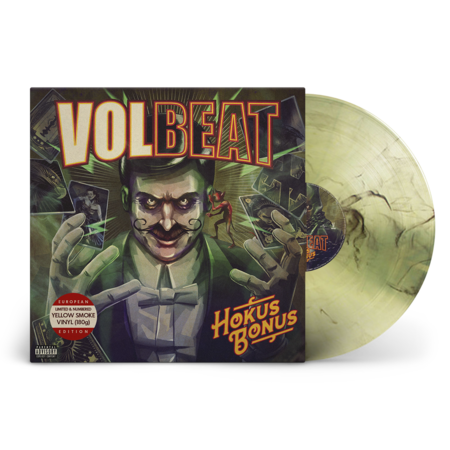 Volbeat: Hokus Bonus: Limited Edition Transparent Yellow + Black Smoke Vinyl LP [Numbered]