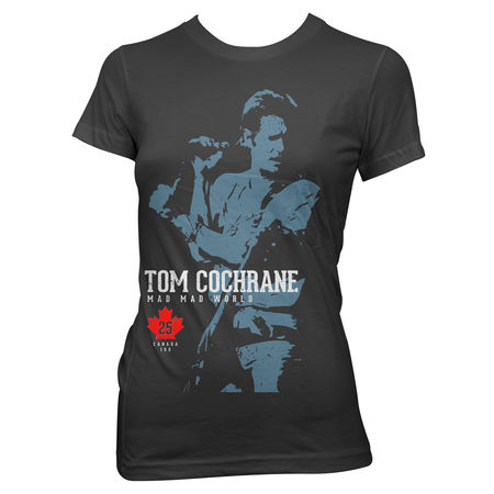 Tom Cochrane: Mad Mad World Womens Tee Medium