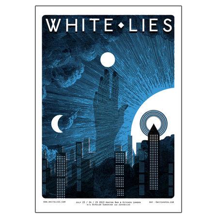 White Lies: White Lies Gig Poster
