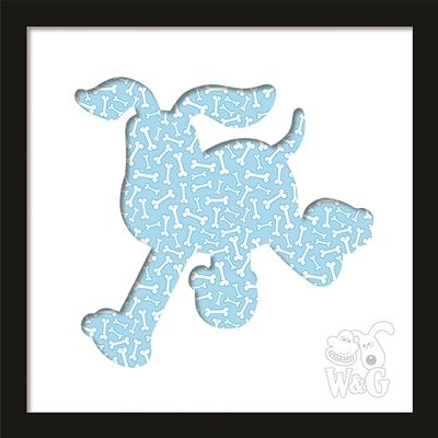 Wallace & Gromit: Run Gromit Run in Bones Black Frame