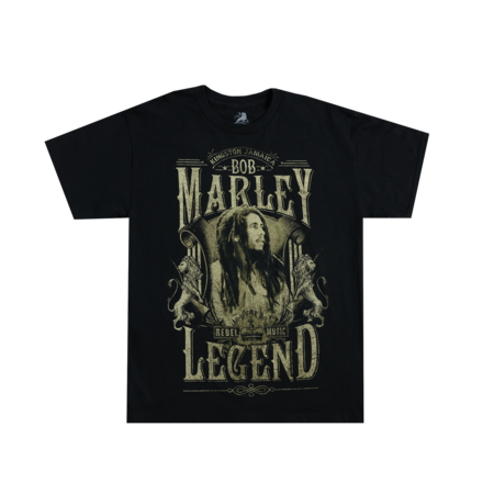 Bob Marley: Rebel Legend Black T-Shirt