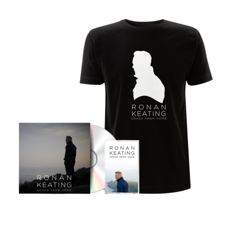 """Ronan Keating: Signed """"From Home"""" Version CD + Cassette + Black Tee"""