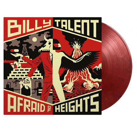 Billy Talent: Afraid Of Heights: Limited Edition Transparent Red & Solid White & Black Vinyl