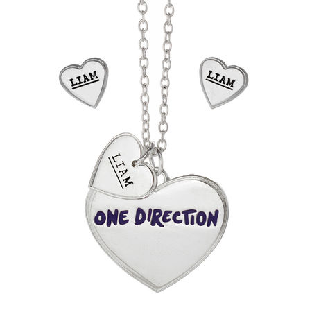 One Direction: One Direction Liam Heart Necklace and Earrings Set