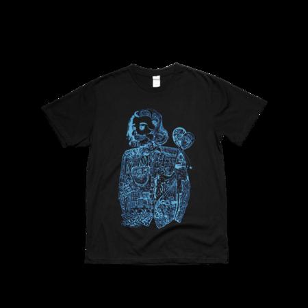 hozier: Black Blue Fan Art T Shirt - L
