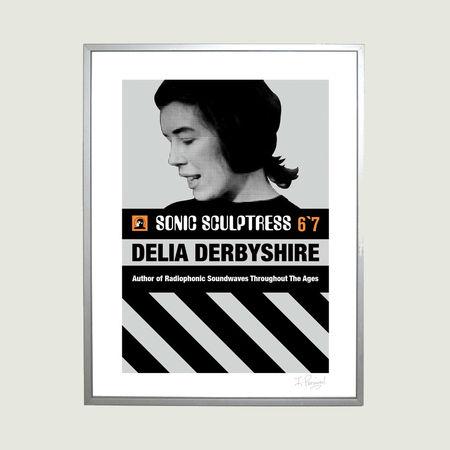 Delia Derbyshire: Delia Derbyshire Vintage Paperback Print