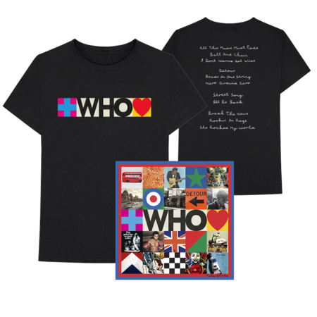 The Who: Deluxe CD + Who Album Tracklist Tee