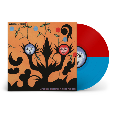 White Denim: Crystal Bullets / King Tears: Limited Edition Red + Blue Split Colour Vinyl
