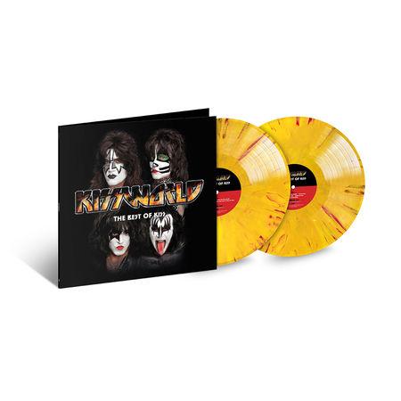 Kiss: Kissworld: Exclusive - Red, Yellow & Orange Marble Coloured Vinyl