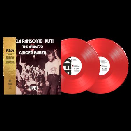 Fela Kuti: Live! with Ginger Baker: Red vinyl 2LP
