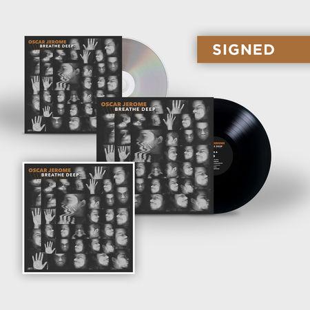 Oscar Jerome: BREATHE DEEP: CD, LP + Signed Print