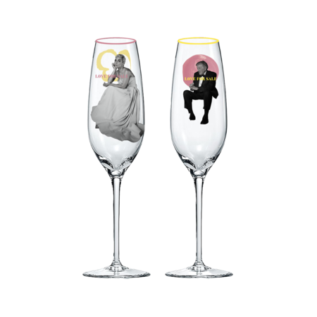 Lady Gaga: LOVE FOR SALE CHAMPAGNE FLUTES