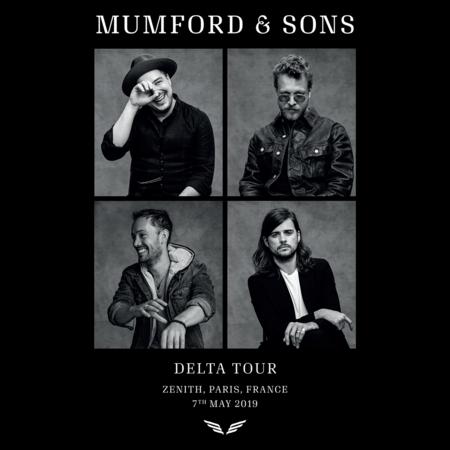 Mumford & Sons : European Delta Tour Portrait Print 2019 (Luxemborg)