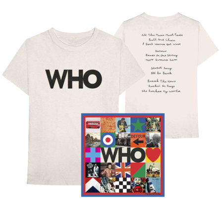 The Who: Deluxe CD + Who Album Logo Tee