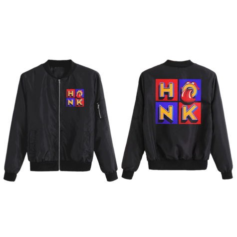 The Rolling Stones: Honk Black Bomber Jacket