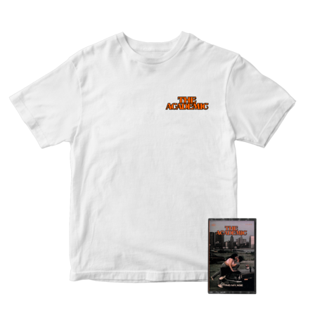 The Academic : Orange Cassette + Tee + Signed Card