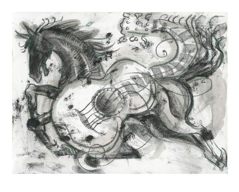 Ronnie Wood: Horse And Guitar Study 1