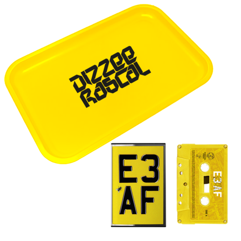 Dizzee Rascal: E3 AF: Cassette, Rolling Tray + Signed Art Card