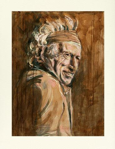 Ronnie Wood: Wall Study - Keith 2021 Edition