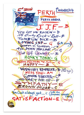 Ronnie Wood: Show 24, Perth Arena, Perth Australia 1 November 2014 Lithograph