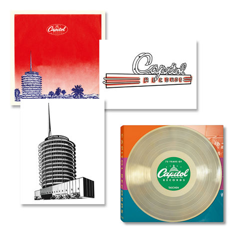 Capitol Records: 75 Years of Capitol Records Book + 3 Lithographs