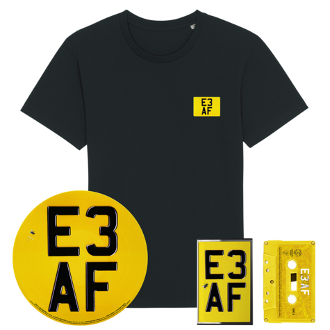 Dizzee Rascal: E3 AF: Cassette, Limited Edition Picture Disc, Signed Artcard + Classic Black Tee