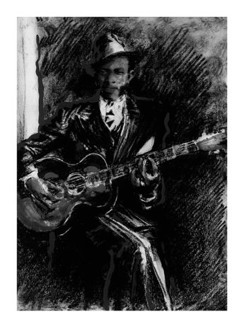Ronnie Wood: Robert Johnson Art Print