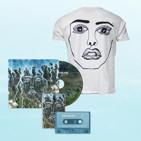 Disclosure: White Classic Face Tee, CD + Cassette