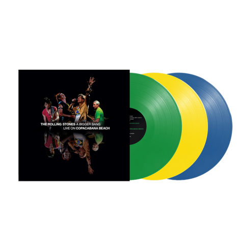 The Rolling Stones: A Bigger Bang Live On Copacabana Beach (Multi Color Green/Yellow/Blue 3LP)