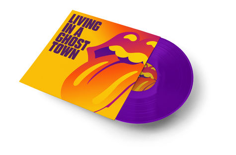 The Rolling Stones: Living In A Ghost Town Purple Vinyl