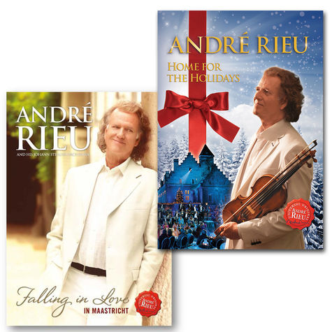 André Rieu: Falling in Love in Maastricht + Home For The Holidays DVD Bundle