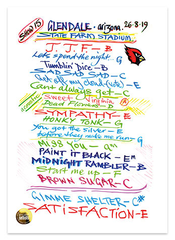 Ronnie Wood: Show 16, State Farm Stadium, Glendale, Arizona 26 Aug 2019 Lithograph