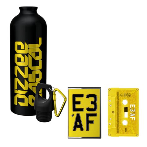 Dizzee Rascal: E3 AF: Cassette, Waterbottle + Signed Art Card