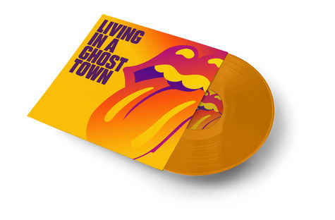 The Rolling Stones: Living In A Ghost Town Orange Vinyl