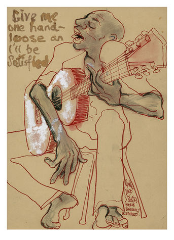 Ronnie Wood: Gimme One Hand Loose Art Print