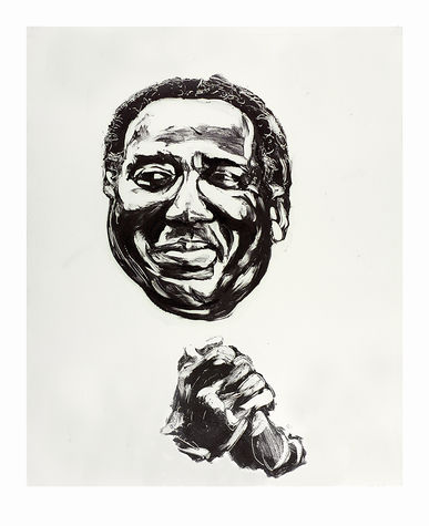 Ronnie Wood: Muddy Art Print