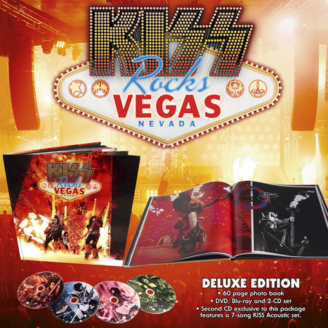 Kiss: Kiss Rocks Vegas (Deluxe Edition) (DVD + Blu-ray + 2CD + Book)